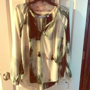 Vera wang Tassel blouse